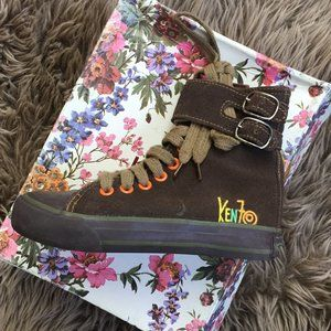 Kenzo brown high tops - size 29